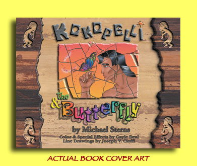 Kokopelli & The Butterfly by Michael Sterns
