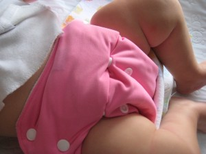 Lil' B in her Knickernappies OS Pocket Diaper