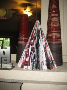 Oldie But Goodie – Upcycled Magazine Christmas Tree Craft