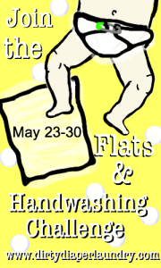 Flats and Handwashing Challenge – Cloth Diapers
