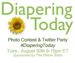 Diapering Today Twitter Party & Photo Contest