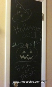 Trash to Treasure – How to turn a door into a chalkboard