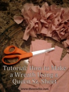 Eco-Crafting Tutorial: How to Make a Wreath Using a Queen Sz. Sheet
