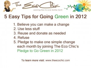 Pledge to Go Green in 2012