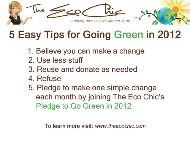 Easy Tips for Going Green