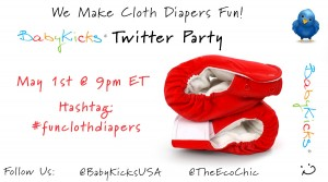 BabyKicks #FunClothDiapers Twitter Party {5/1/12}