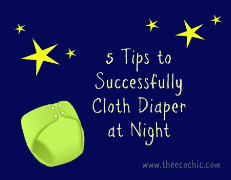 Cloth diaper at night