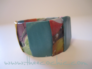 Magazine Bangle Bracelet Upcycled Craft #freefromtrash