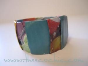 Magazine Bangle Bracelet Upcycled Craft #freefromtrash