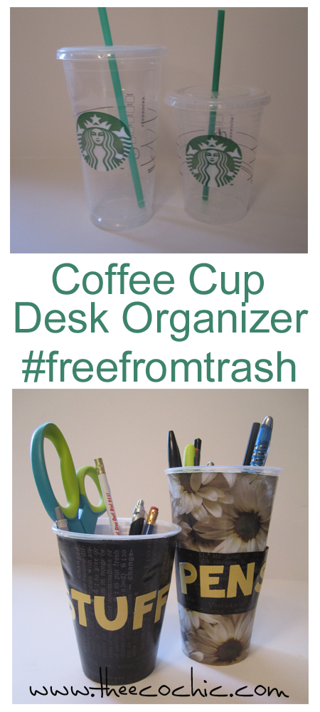 Coffee Cup Desk Organizer #freefromtrash