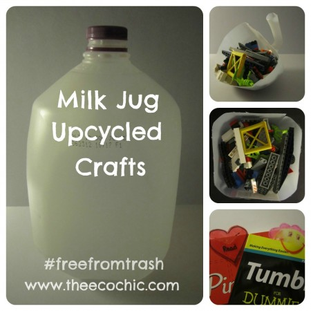 Milk Jug Upcycled Crafts #freefromtrash