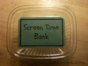 Screen Time Bank