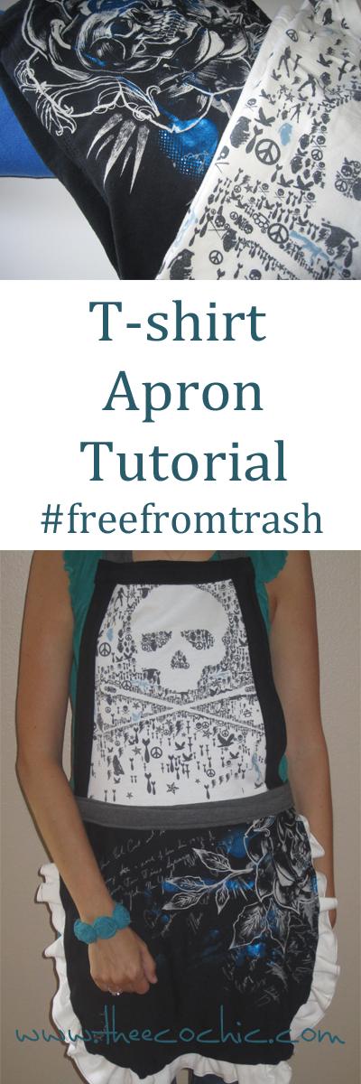 Tshirt Apron Tutorial #freefromtrash