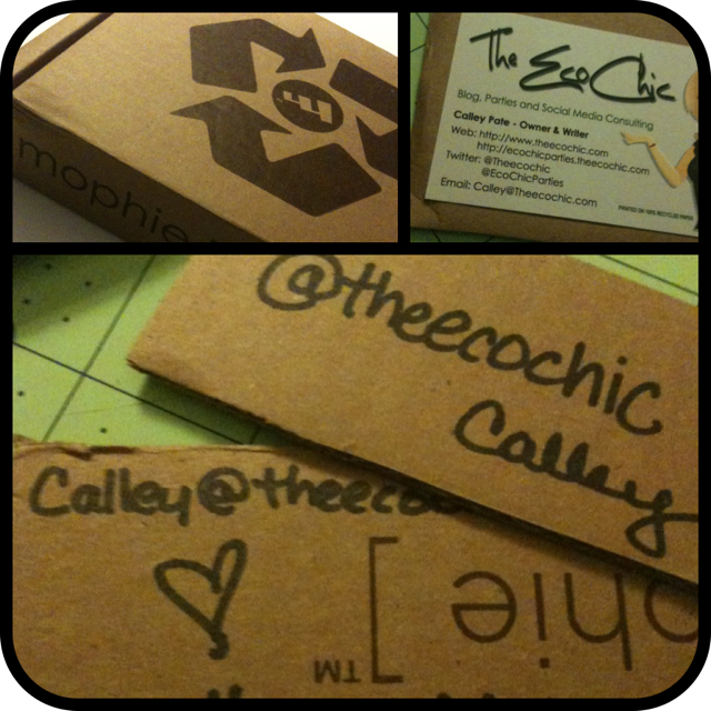 Upcycled cardboard blogger business cards a tampa lifestyle cardboard business cards colourmoves
