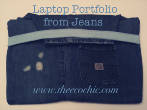 laptop portfolio denim #freefromtrash