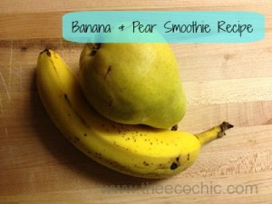 Banana & Pear Smoothie Recipe for Squooshi Reusable Pouches