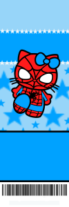 Spiderman Hello Kitty Birthday Invitations