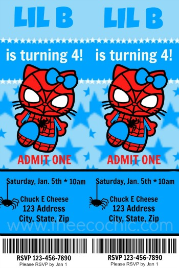 Sample Spidey Kitty Ticket
