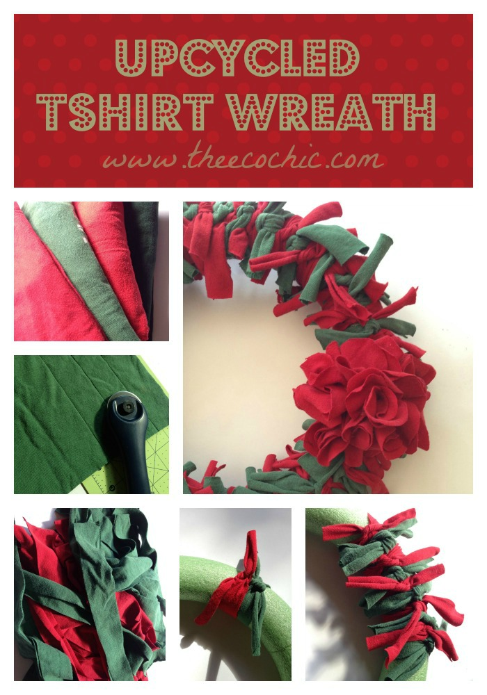 Upcycled Tshirt Wreath Tutorial