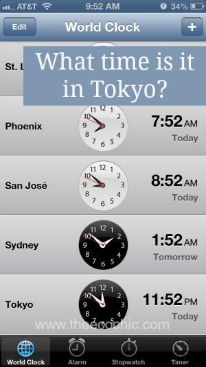 iPhone 5 World Clock