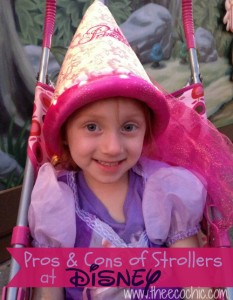 The Pros and Cons of Strollers at Disney (or any place really)