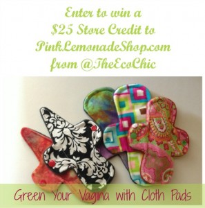 Green Your Vagina with Cloth Pads (and a giveaway)