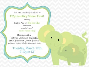 You are Cordially Invited to #MyGreenBaby Shower Event!