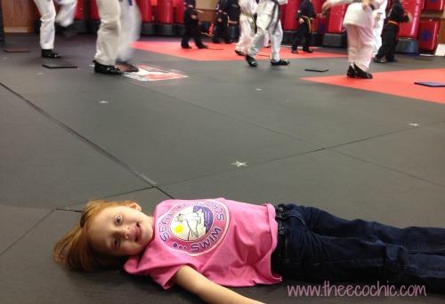 Napping at Karate