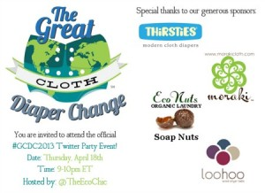 Great Cloth Diaper Change 2013 – Twitter Party