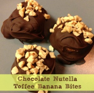 Chocolate Nutella Toffee Banana Bites Recipe