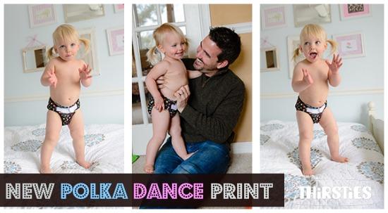Polka Dance Print by Thirsties