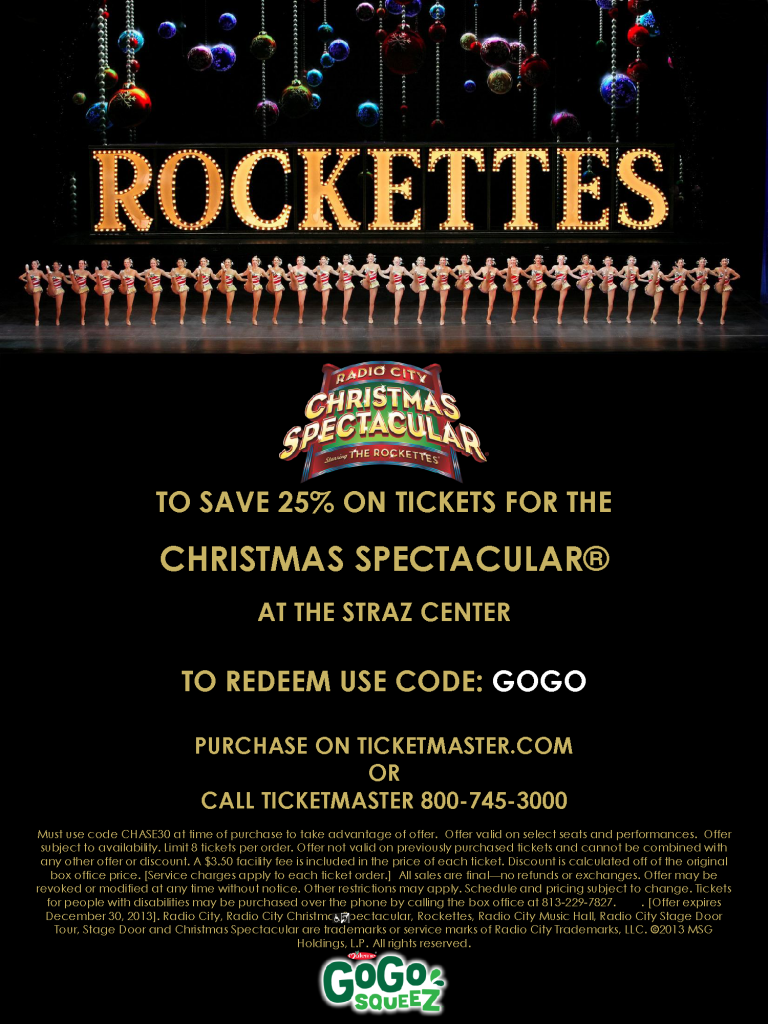 Radio City Christmas Spectacular in Tampa with the Rockettes