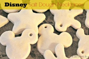 DIY Disney Salt Dough Necklaces #disneyside