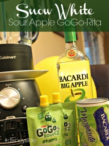 Snow White Sour Apple GoGo-Rita Cocktail #disneyside