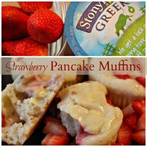 Stonyfield Strawberry Pancake Muffins Recipe