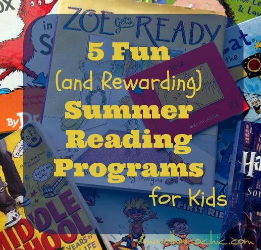5 Fun and Rewarding Summer Reading Programs for Kids #summerreading
