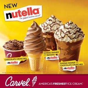 Carvel + Nutella = Heaven in a Cup (or Cone)