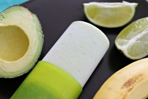 Avocado, Lime, Banana, Coconut Yogurt Push Pops