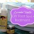 Lavender Vanilla DIY Foot Spa Treatment #EarthMama