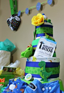 Dinosaur Rawr Cloth Diaper Cake Tutorial #FluffinAwesome
