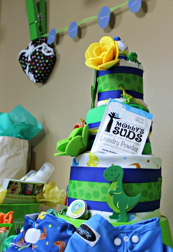 Cloth Diaper Cake Dinosaur Theme