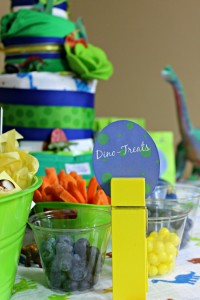 Dinosaur Rawr Baby Shower Decoration Ideas #FluffinAwesome