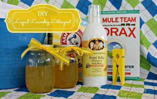 DIY Liquid Laundry Detergent Recipe