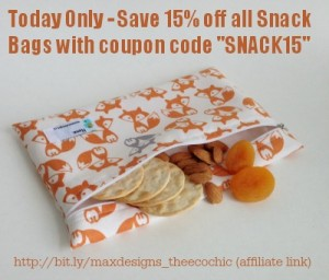 Ditch the Baggies – 10 Uses for Zippered Snack Bags (Reusable of course)