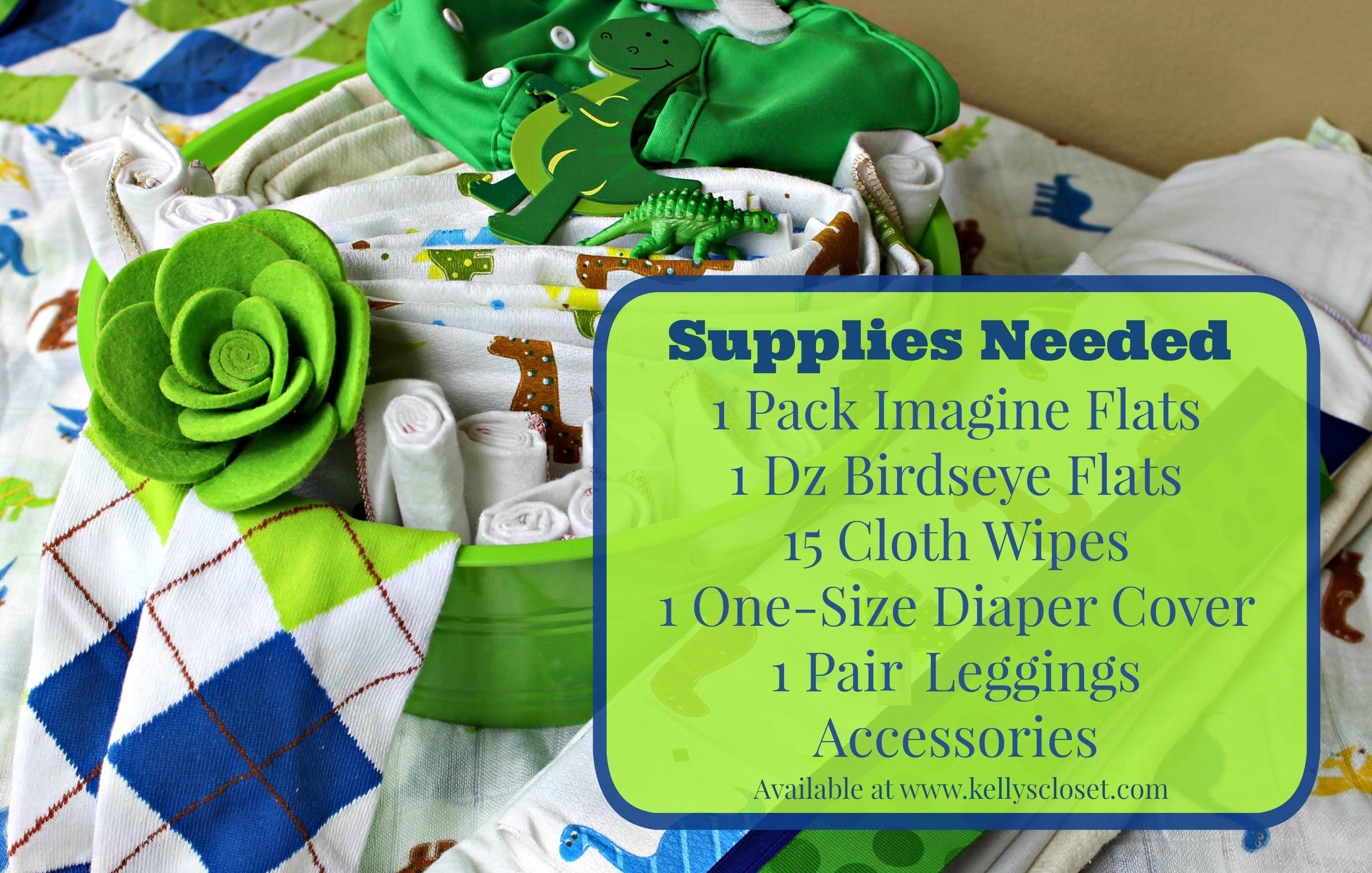 Cloth Diaper Cake Supplies