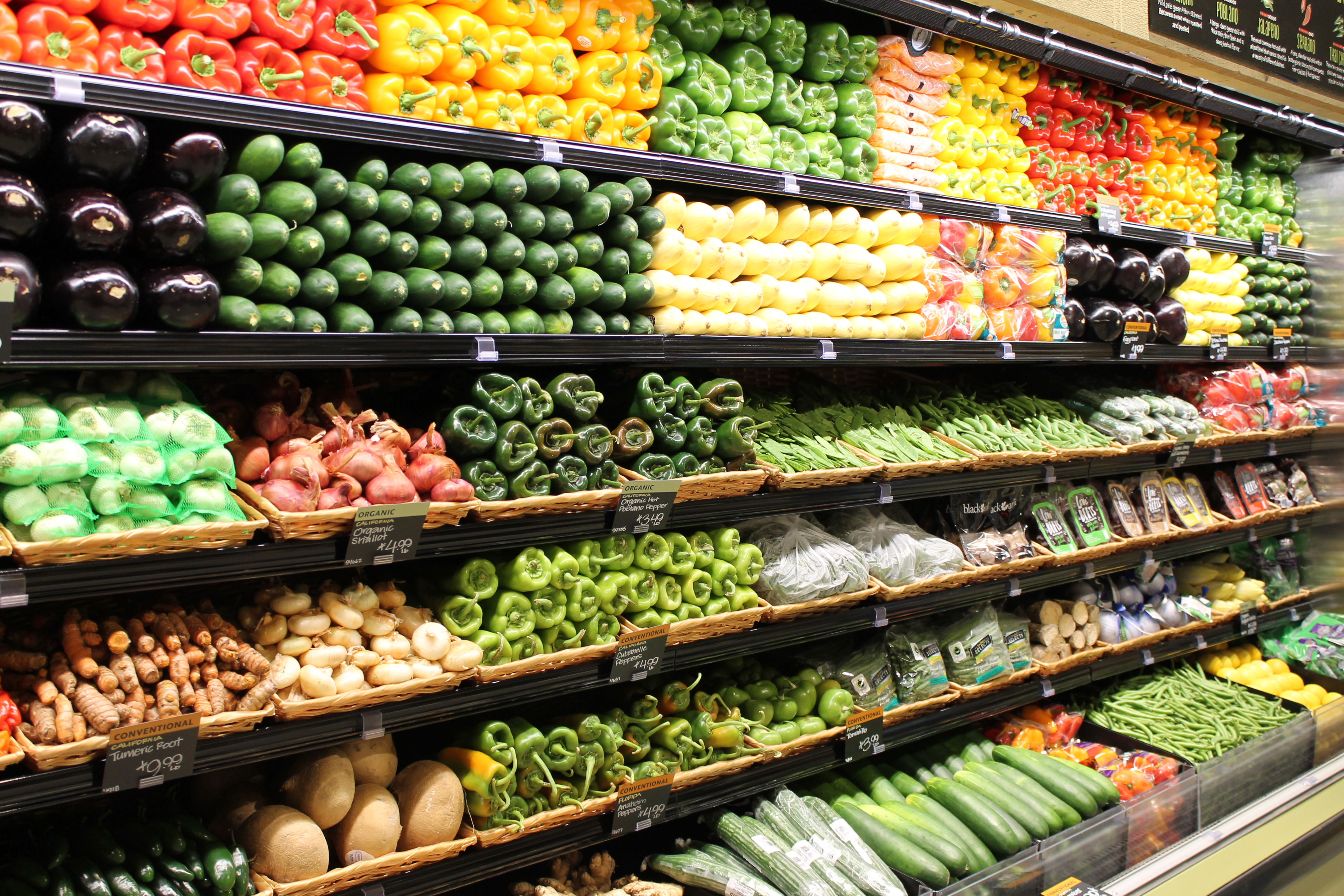 Whole Foods Organic Vegetables