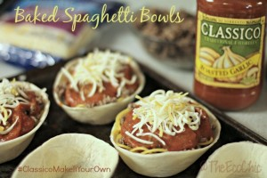 Baked Spaghetti Bowls #ClassicoMakeItYourOwn