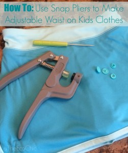 How to Use Snap Pliers to Make an Adjustable Waist on Kids Clothing