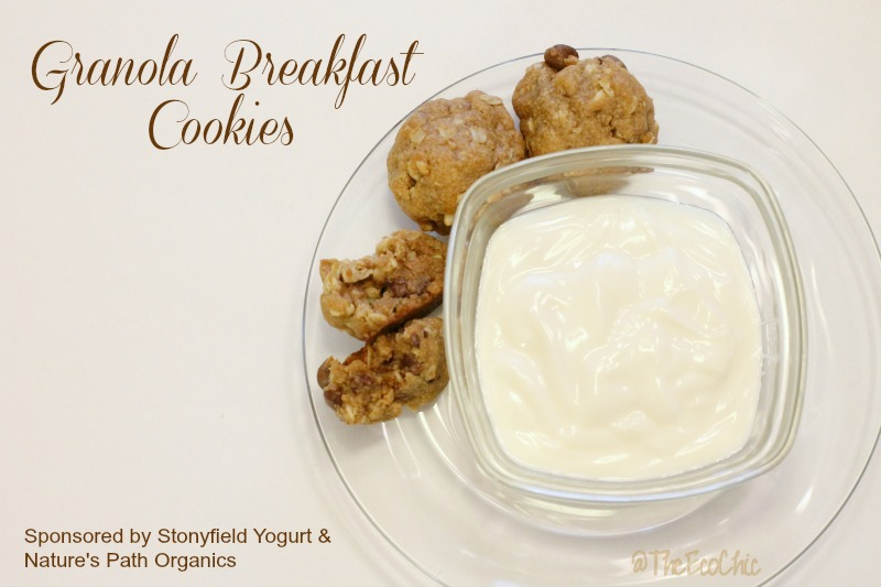 Granola Breakfast Cookies with Stonyfield Yogurt