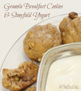 Breakfast Granola Cookies & Stonyfield Yogurt